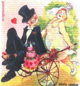 Disktrasa bröllop